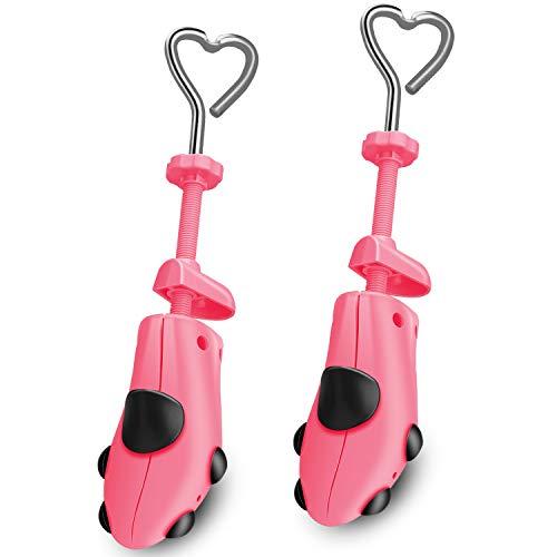 XYH Shoe Stretcher Comes with Dust-Proof Bag, Pair of Plastic Shoe Stretcher,4 Way Ajustable. Pink WM'S SZ (5.5-12) M'S SZ(5-10)