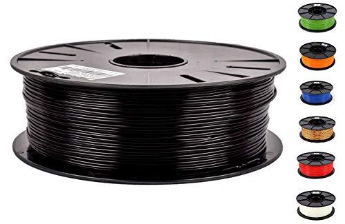 JANBEX PLA Filament 1,75 mm 1kg Rolle für 3D Drucker oder Stift in Vakuumverpackung (Schwarz)