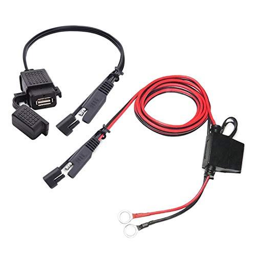 ZSYLOVE ZHANGSUYUAN 360 Grados de rotación Titular de Montaje en Forma for el SAE for Cable Adaptador USB 2.1A rápido Quick Fit Conector for la Motocicleta Doble de Carga USB
