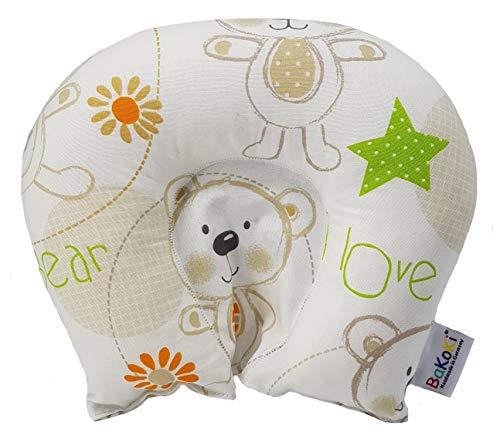 Original Bakoki® Lagerungskissen gegen Kopfverformung - Schädelasymmetrie • mit Kinderärzten entwickeltes und eingetragenes Design • familiengeführter Handwerksbetrieb • plastikfreier Versand •