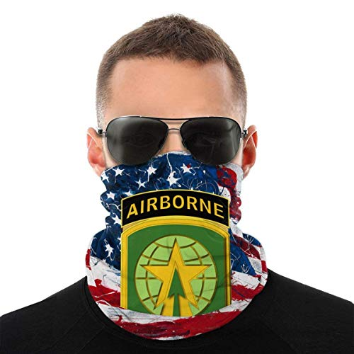 16th Mp BDE Airborne Tab Wo Txt Anime Men Outdoor Multi Function Variety Head Scarf Windproof Face Mask