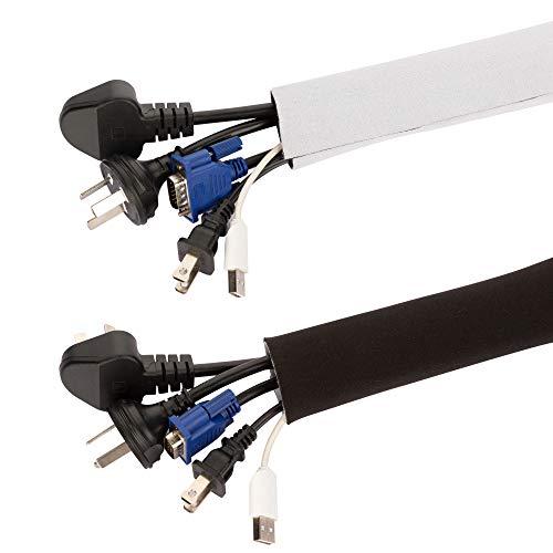 200 (L) x 13,5 cm Haraqi Cable de Neopreno con Velcro Negro...