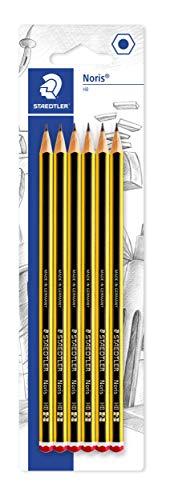 Staedtler Noris 120, Crayons à papier HB en bois de haute qualité, Étui blister de 6 crayons HB, 120-2BK6DA