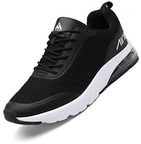 Hombre Aire Zapatillas Trail Running Mujer Deportivas para Caminando Transpirable Antideslizante Sneakers St.1 Negro 42 EU