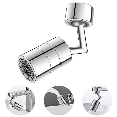 Byoauo Wasserhahn Aufsatz 2-Flow Doppelfunktion 22mm Innengewinde und Außengewinde Küche/Bad Wasserhahn Filter… (-1)