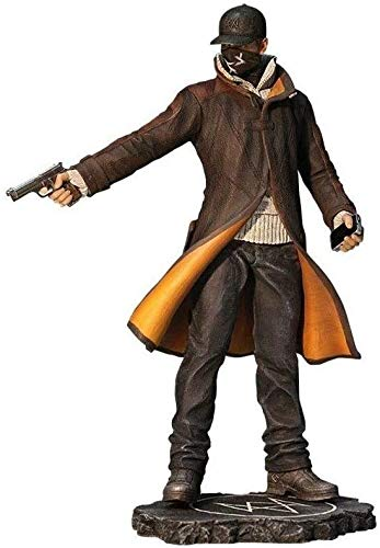ZXLLY Watch Dogs Figurine - Aiden Pearce PVC Figure High 24CM(9.4Inches)