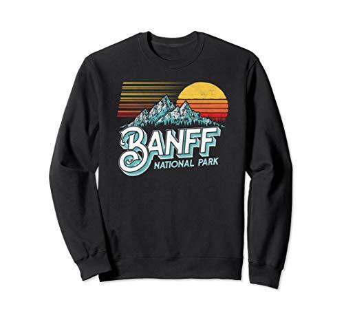 Banff National Park Alberta Canada Vintage Mountain Sweatshirt