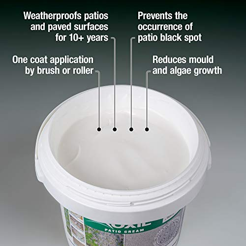 Roxil Patio Cream - 10 Year Weatherproofing, High-Strength Paving and Patio Seal (3 Litre)