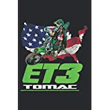 ELI ET3 TOMAC USA FLAG 450SX MOTOCROSS ET1: Daily Planner - Undated Daily Planner for Staying on Track