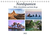 Nordspanien, wilde Atlantikkueste und hohe Berge (Tischkalender 2022 DIN A5 quer): Nordspanien ist das etwas andere Spanien, abseits von Massentourismus und Strandurlaubern. (Monatskalender, 14 Seiten )