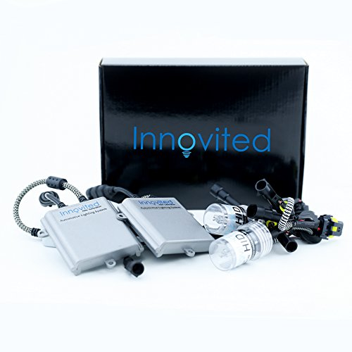 Innovited 55W Performance Xenon HID Lights - All Bulb Sizes and Colors - with Digital Ballast - 9005-6000K - Diamond White