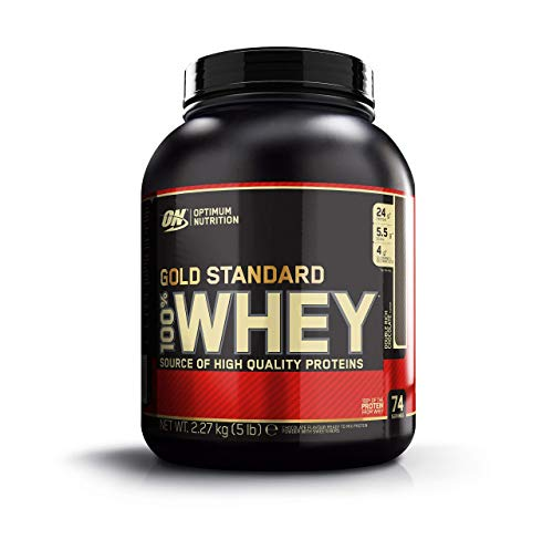 Optimum Nutrition Gold Standard 100% Whey Proteína en Polvo, Doble Chocolate -...