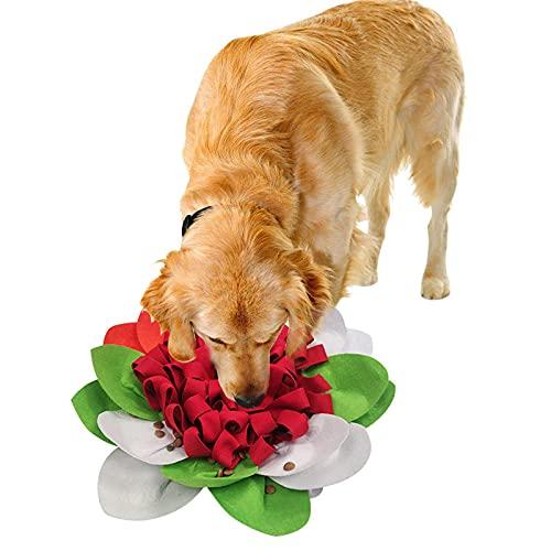 YXYOL Almohadilla para Olfatear Mascotas,Snuffle Mat para Perro,Alfombra Olfativa Perros Forma De Flor Comedero Olfativo,Almohadilla para Olfatear Mascotas,El Alivio del EstréS,45 * 45cm