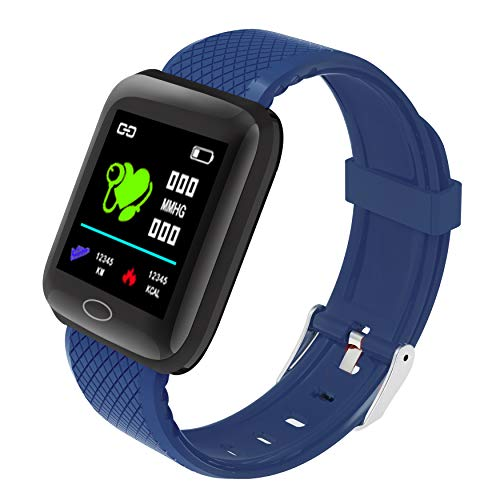 PLDDY Reloj Inteligente,Smartwatch Impermeable IP67 para Hombre Mujer niños, Pulseras de Actividad con Monitor de Sueño Pulsómetros podometro Caloría, Reloj Deportivo para Android y iOS