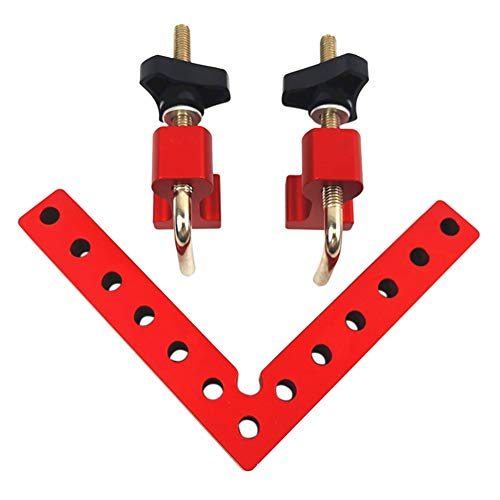 90 Degree Right Angle Clamps, L-shaped Auxiliary Fixture Positioning Panel Fixing Clip, Woodworking Carpenter Tool Aluminium Alloy Corner Clamp for Making Right Angle Frame