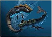 ChuYuszb 大人のためのパズル1000個海の怪物アートワークレジャー子供のおもちゃ家の装飾アートギフトクリスマス