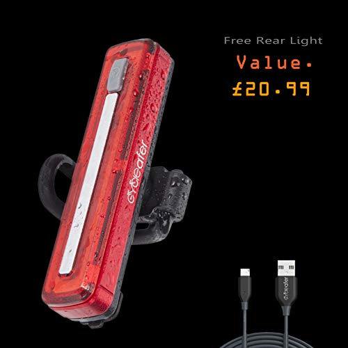 Cycleafer® Bike Lights, Front & Rear Lights built-in Battery, Cycle Lights Bicycle light for late night Bicycle Riding, Bike Lights Set Rechargeable, easy attach Powerful & Shockproof, easily mounted.