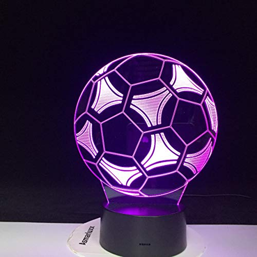 LED 3D Football Ball Night Light Office Home Decoration Holiday Gift