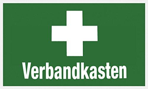 """Metafranc Hinweisschild \""""Verbandkasten\"""" - 250 x 150 mm / Beschilderung / Infoschild / Verbandskasten / Erste-Hilfe-Kennzeichnung / Sicherheitsmarkierung / Gewerbekennzeichnung / 503750"""
