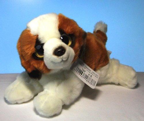 Plüschhund Hund Bernhardiner 35 cm Kuscheltier Schlenkertier Stoffhund von Leosco