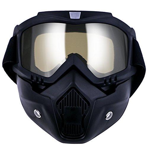 TedGem Gafas de motocross, gafas de sol para motocicleta, gafas de protección contra el polvo, gafas extraíbles, máscara facial resistente al viento para exteriores, bicicleta, motocross, todoterrenos