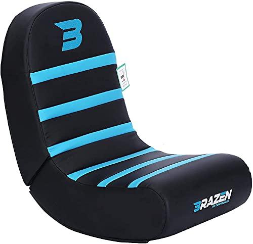 NEW BraZen Piranha Rocker Gaming Chair - Great Gamer Gift And Room Accessory- Blue