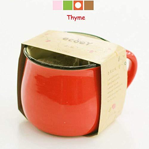 EgBert Keramik DIY Mini Coffee Cup Potted Plant Office Desktop Plant Decor - Rot