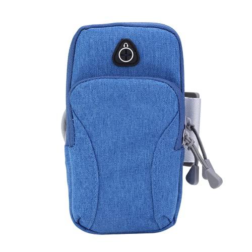 Mothinessto Bolso del sostenedor, Bolso al Aire Libre Bolso Ligero Resistente al Desgaste Respirable del teléfono Durable para Correr para los Adultos(Azul Claro)