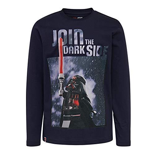 LEGO Wear Star Wars Cm Langarm T-Shirt, Blau (Dark Navy 590), 104 cm (Herstellergröße: 104)