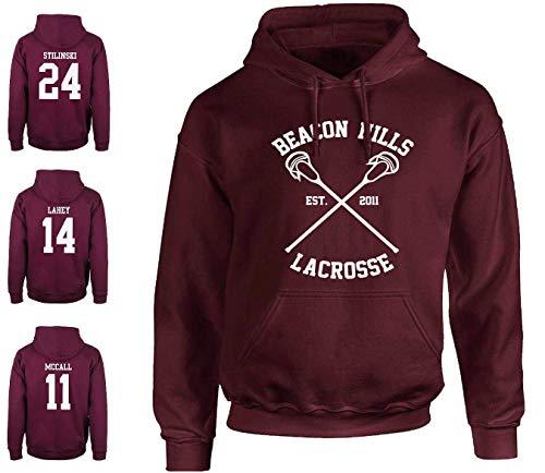 Tshirteria Italiana Felpa Beacon Hills Lacrosse Stilinski Lahey McCall Serie TV Teenwolf - Stampata e spedita dall Italia - Alta QUALITA !!! (L - McCall)