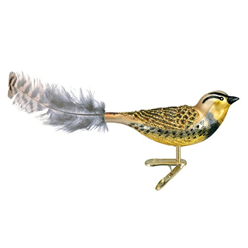 Old World Christmas Bird Watcher Collection Glass Blown Ornaments for Christmas Tree Meadowlark