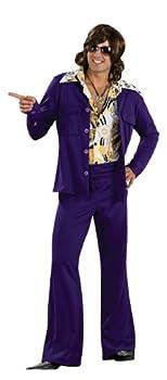 Rubie s 60 s Revolution Men s Leisure Suit Purple One Size Costume