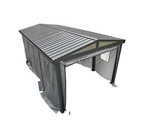 Sojag Seitenteile geeignet für Carport Samara 5,5x3 m Bausatz Überdachung Unterstand Autogarage anthrazit Stahldach 550x300 cm