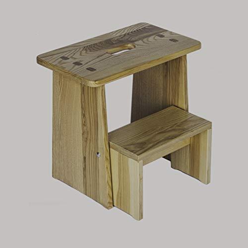 Tritthocker, Sitzhocker Holz, stabil in Esche Massivholz, für Kinder und die ganze Familie