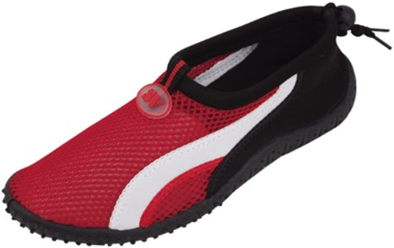 Starbay New Brand Women's Red Athletic Water shoes Aqua Socks with White Streak Size 5