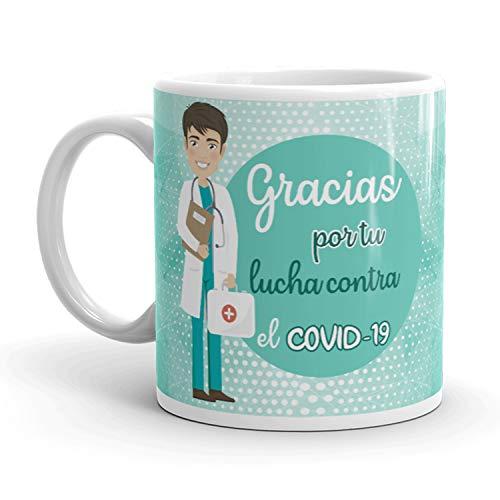 Kembilove. Tazas Desayuno Originales para Enfermeros – Taza de café de Agradecimiento para Enfermeros Que lucharon en Ayudar a la Gente – Regalos Originales para Enfermero