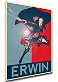 Wall Art Poster Attack On Titan Propaganda Erwin Smith Size A3 (30cm x 42cm/11in x 17in) Unframed Great Gift