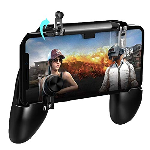 LAIYYI Mobile Controller per Fortnite PUBG, Mobile Controller L1R1 Game Trigger Joystick Gamepad Grip Remote per Android iOS