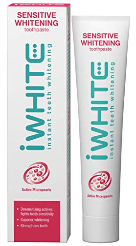 iWhite Sensitive Whitening Zahnpasta - Weiß und schützt - Zahnschmelzrestauration - Erfrischt den Atem - Bekämpfung der Zahnempfindlichkeit - Remineralisierung der Zähne - Aktive Mikroperlen