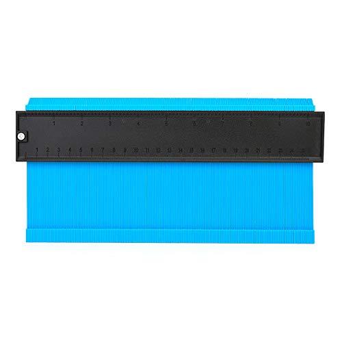 Hesper 型取りゲージ 250mm 幅広タイプ(13cm幅) 「フルフィルメント by Amazon」プラスチック 型取りゲージ 型取り定規 型とりゲージ 測定工具 曲線ゲージ プラスチックゲージ (ブルー)