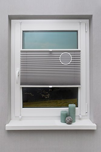 Thermo - plissé op maat voor alle ramen tot 27 mm verschillende kleuren Klemmfix montage via klemdragers vouwgordijn ondoorzichtig zonwerend rolgordijn