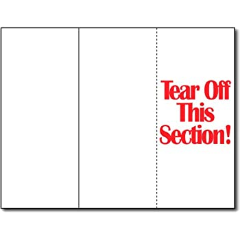 Blank Bright White Trifold Brochure Card Stock 250 Per Pack 65lb Card Stock
