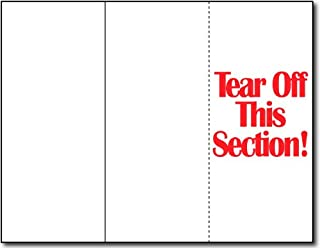 65lb White Tri-fold Brochure Paper w/Tear Off - 250 Brochures - Desktop Publishing Supplies, Inc.™ Brand