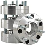 Venum wheel accessories 4 Pc 2' 5x135 MM to 6x135 MM Raw Aluminum Hub Centric Conversion Adapters Converts 5 Lug to New 6 Lug Works with Ford Wheels 14x2.0 Studs