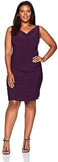 Star Vixen womens Plus-size Rouch Swthrt Neck Str Ity Bodycon Dress Cocktail Dress