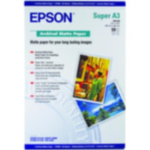 Epson Archival Matte Papier, DIN A3+, 192g/m, 50 vel - Archival Matte Papier, DIN A3+, 192g/m, 50 vel