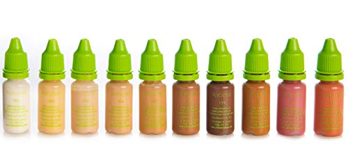 Airbase High-Definition Airbrush Make-Up: 10x10ml Silicone Airbrush Foundation Pack