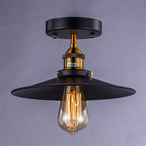 Licperron 1 X E27 Vintage Deckenleuchte Pendelleuchten Industrie Retro Küche Bad Loft Bar Deckenlampe Industrielampe Lampe leuchte