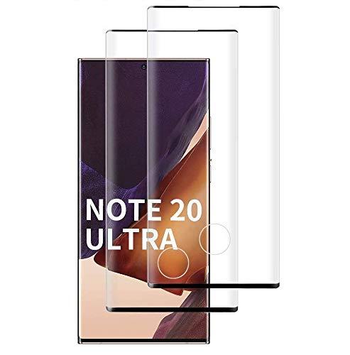 【2枚セット】Galaxy Note 20 Ultra フィルム 【日本製素材旭硝子製】 Galaxy Note 20 Ultra ガラスフィルム 9Dラウンドエッジ加工/業界最高硬度9H/高透過率/3D Touch対応/自動吸着 強化ガラス液晶保護フィル 全面フルカバー(ブラック/黒)