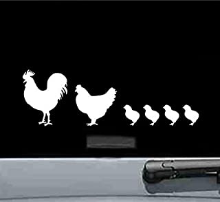 JS Artworks Chicken Family Vinyl Decal Sticker